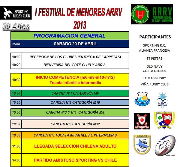 programa festival sporting